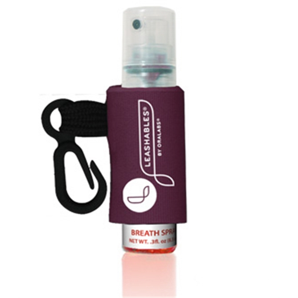 Ice Drops (r) - Cinnamint - Flavored Breath Spray With Pump Bottle And Custom Leash And Label Photo