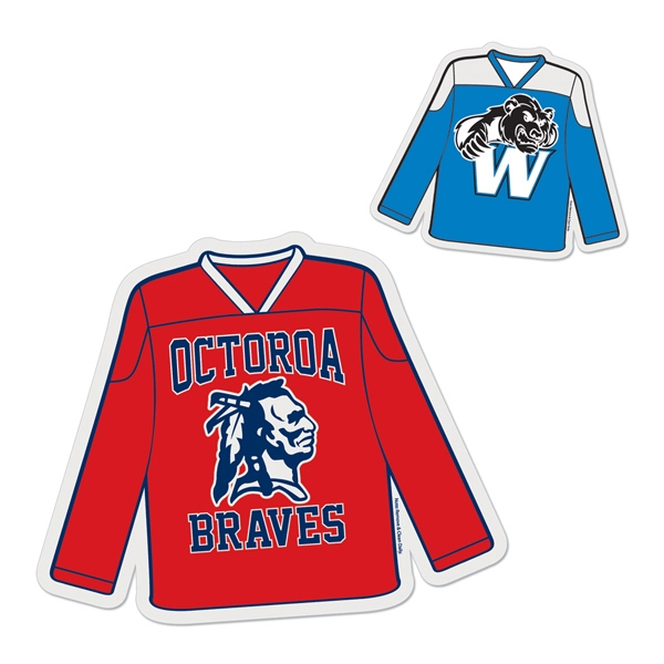 Hockey Jersey - Die Cut Car Magnet, Adheres To A Vehicle Door Or Other Metal Surface Photo