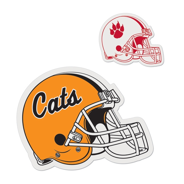 Detailed Football Helmet - Die Cut Car Magnet, Adheres To A Vehicle Door Or Other Metal Surface Photo