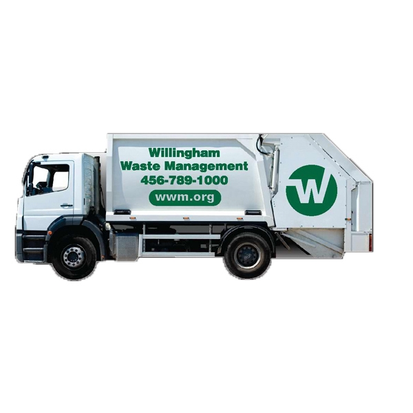 Garbage Truck Shape Stock Magnet Photo