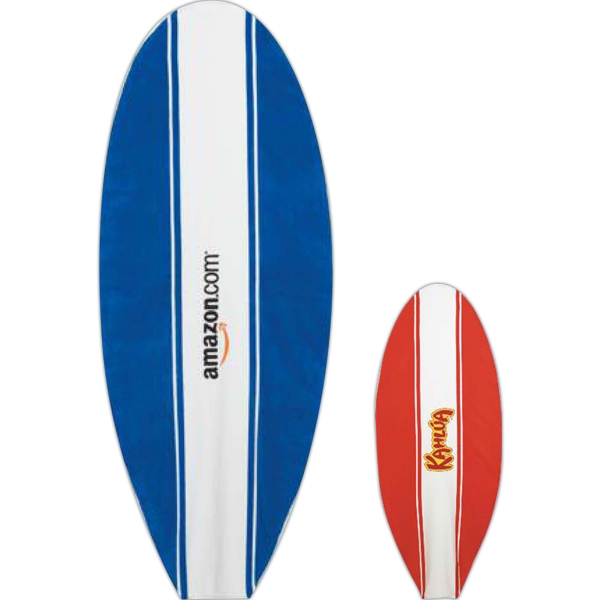 "Board Towelz (r) - Blank - Velour Towel With Surfboard Shape. 32"" X 80"". Stock Design Photo"
