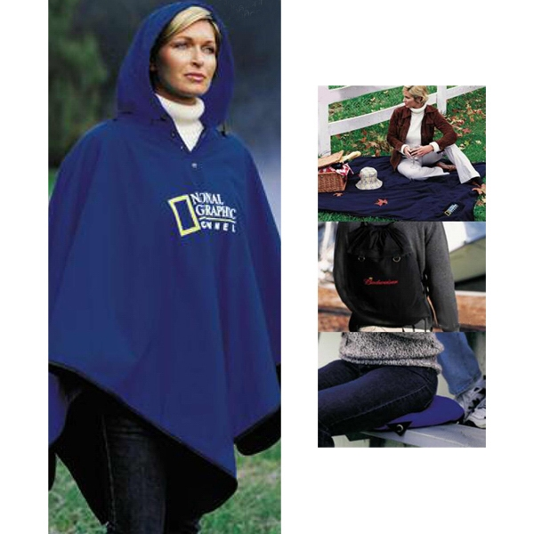 4-in-1 (tm) - Blank - Blanket, Poncho, Seat Cushion And Backpack Photo