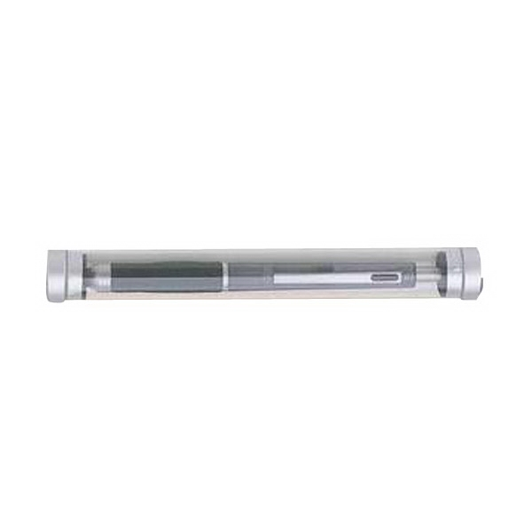 Blank. Transparent Tube With Silver Accents Photo