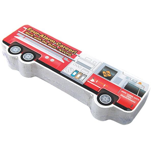 Compressed T (tm);smasht (tm) - Fire Truck - School Bus Or Fire Truck Shaped Compressed T-shirt Photo