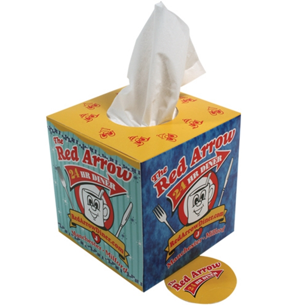 Sniftypak (tm) - Facial Tissue Classic Cube Shaped Tissue Box Photo