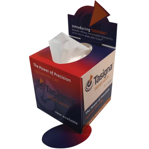 Sniftypak (tm) - Classic Cube Pop-up - Glumetza - Facial Tissue Box Photo