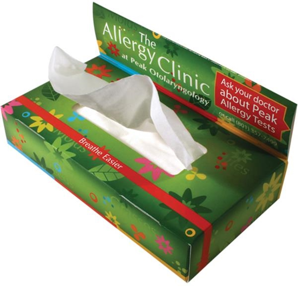 Sniftypak (tm) - Facial Tissue Economy Pop-up Billboard Tissue Box Photo