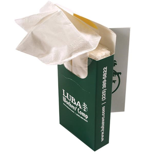 Pocketpak (tm);sniftypak (tm) - Facial Book Style Tissue Box Photo