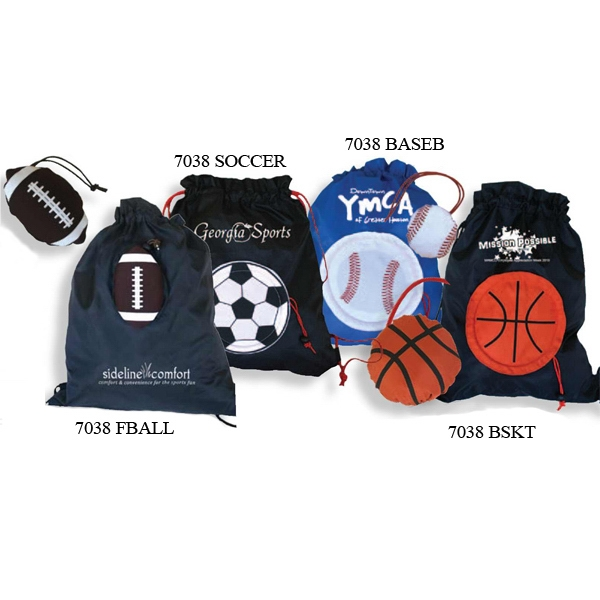 Morph - Football - Tote Bag Morphs Into Its Own Sports Shaped Drawstring Pouch Photo