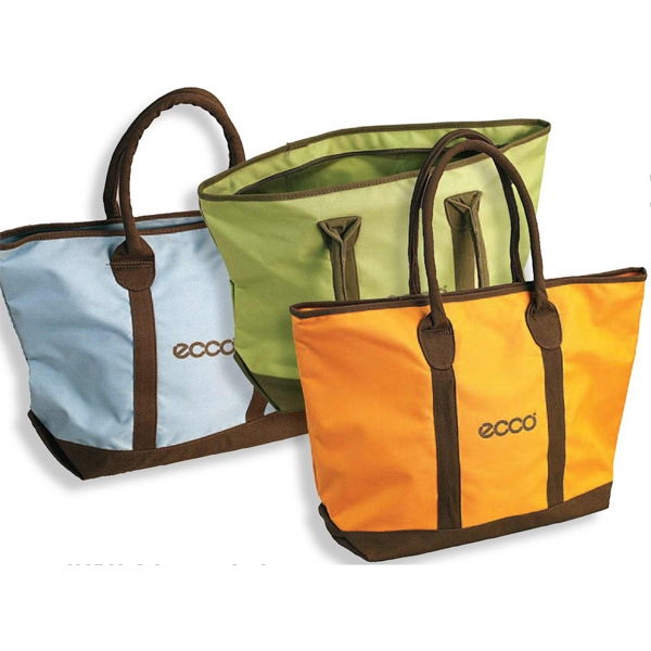 Ascot - Zippered Main Compartment Tote Bag With Padded Shoulder Straps Photo