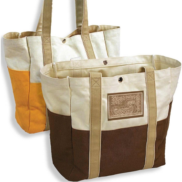 Adirondack (tm) - Tote Bag With Hard Bottom And Snap Closure Photo