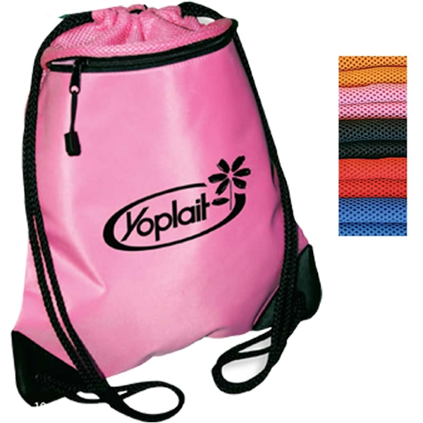 Strap Sack With Hidden, Zippered Pocket And Padded Mesh For Comfort Photo