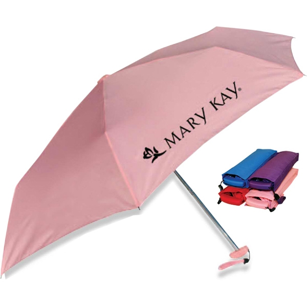 "Mini - Rectangular Shape With Accent Handle Umbrella, 39"" Arc Photo"