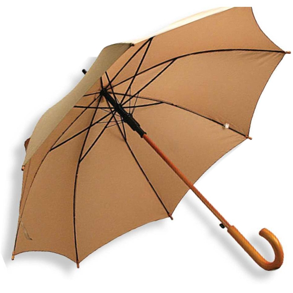 "Encore - Umbrella With 48"" Arc, Wood Shaft With Curved Wood Handle, Matching Sleeve Photo"