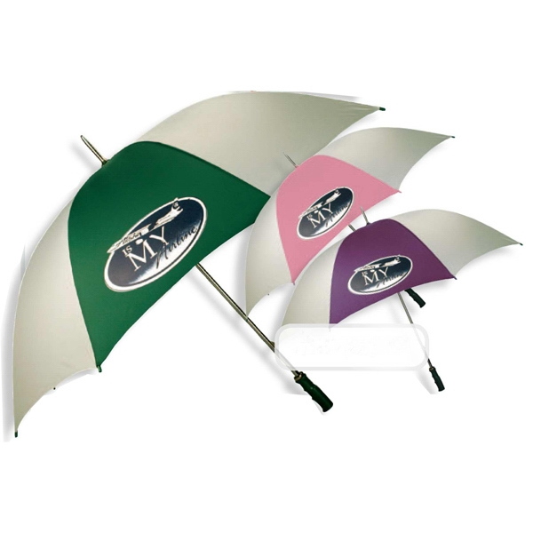 Golf Umbrella With Steel Shaft And Ribs For Strength Photo