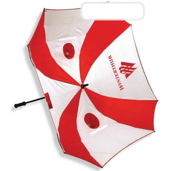 Plus - Square Shaped Golf Umbrella And Instant Putting And Chipping Target Photo