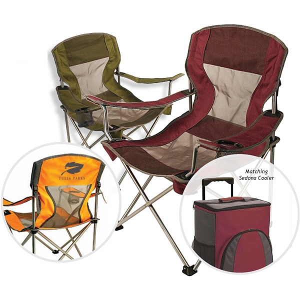 The Contour - Folding Chair With Mesh Seat And Back With Matching Carry Bag Photo
