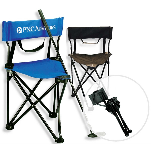 Caddie - Golf Chair Folds Easily With Shoulder Carry Strap And Padded Back Photo