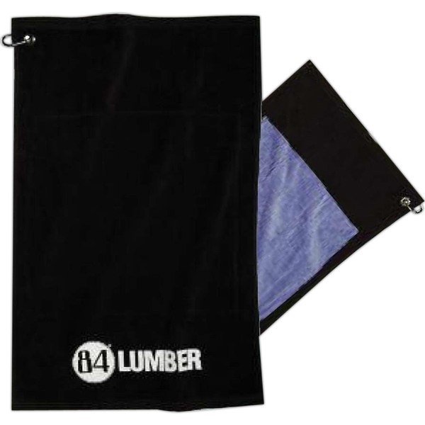Smart Towel - Hemmed Sport Towel With Microfiber Backing And Carabiner Clip Photo