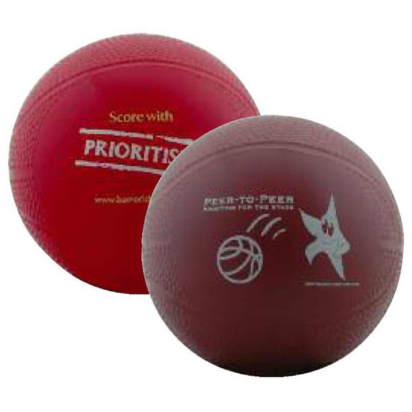 "Miniature 4"" Vinyl Re-inflatable Basketball Photo"