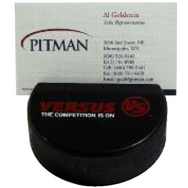 Hockey Puck Shaped Business Card Holder Photo