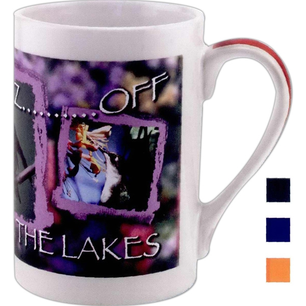 5 Working Days - Blue - Full Color Stoneware Ribbon Mug, 12 Oz Photo