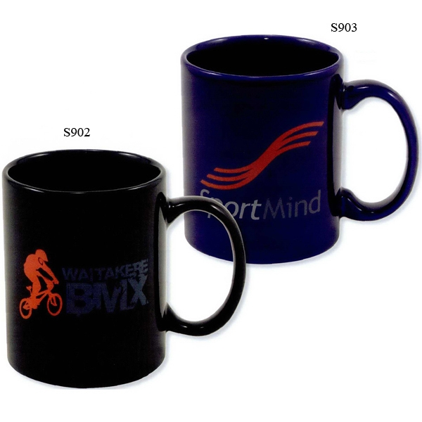 Corporate - Blue - 5 Working Days - Direct Screen Colored Stoneware Mug, 11 Oz Photo