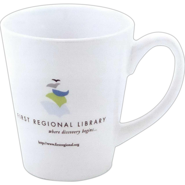 Coffee House - Decal Stoneware Contemporary Style, 12 Oz. Mug Photo