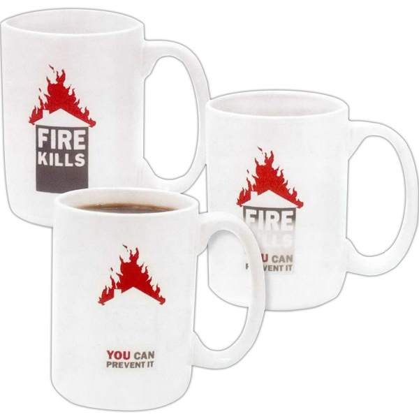 Amazink (r) - Direct Screen Stoneware Mug With Heat Sensitive Imprint, 15 Oz Photo
