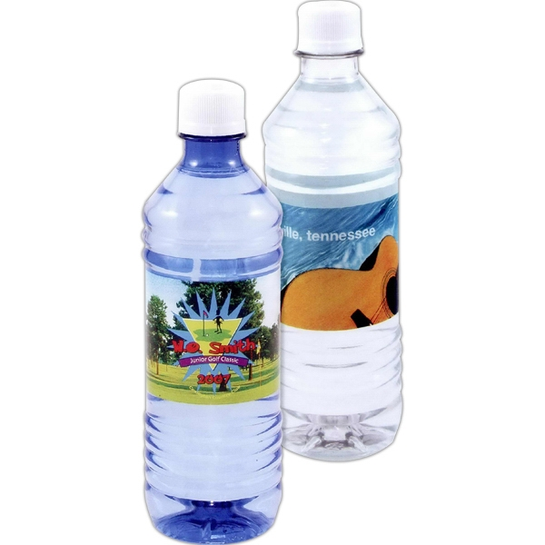 1 Working Day - Clear - Bottled Water Full Color Label, 16.9 Oz Photo