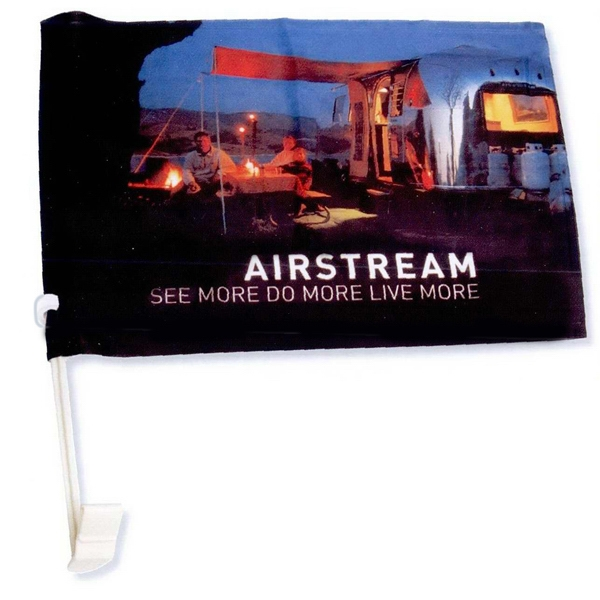 5 Working Days - Full Color Polyester Car Flag Photo
