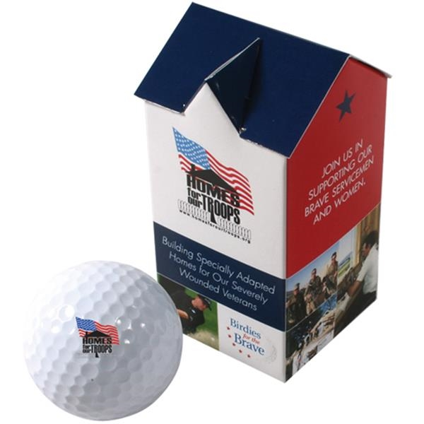 Yourbrandgolf (r) - 2-ball House Box - House Shaped Two Ball Golf Box Photo