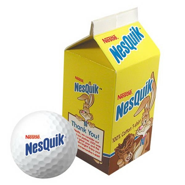 Yourbrandgolf (r) - Milk Carton Shaped Two Ball Golf Box Photo