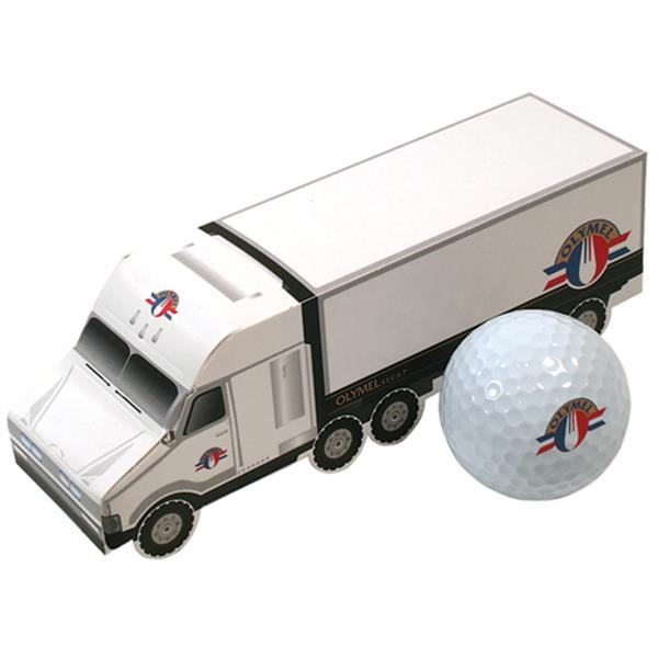 Your Brand Golf (tm) - 3 Ball Semi Truck - Olymel - Semi Truck Shaped Three Ball Golf Box Photo