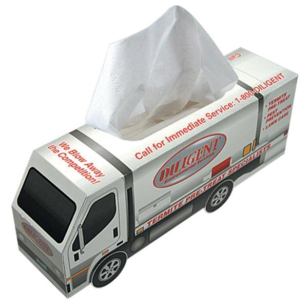 Sniftypak (tm) - Custom Truck Shape Facial Tissue Box Photo