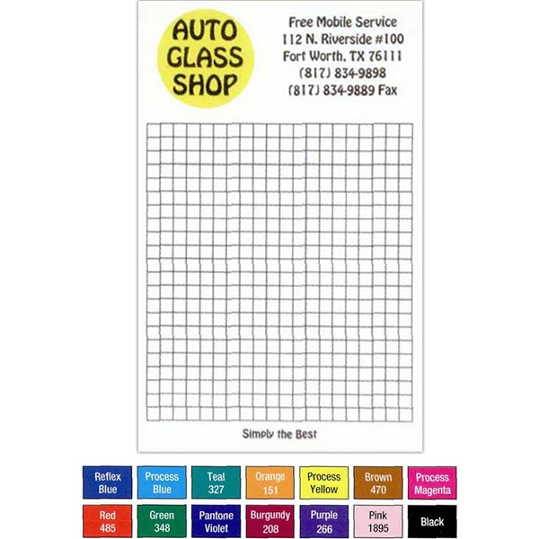 "25 - Sheet Note Pad. - Custom Printed 4 1/8"" X 5 1/2"" Note Pad Of 15 Lb. Bond Photo"