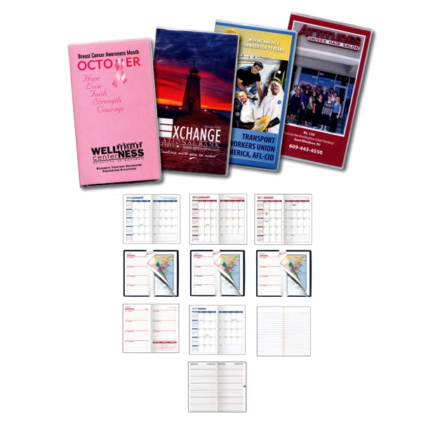 Full Color Digital Academic 2-color Pocket Planner With Standard Vinyl Cover Photo