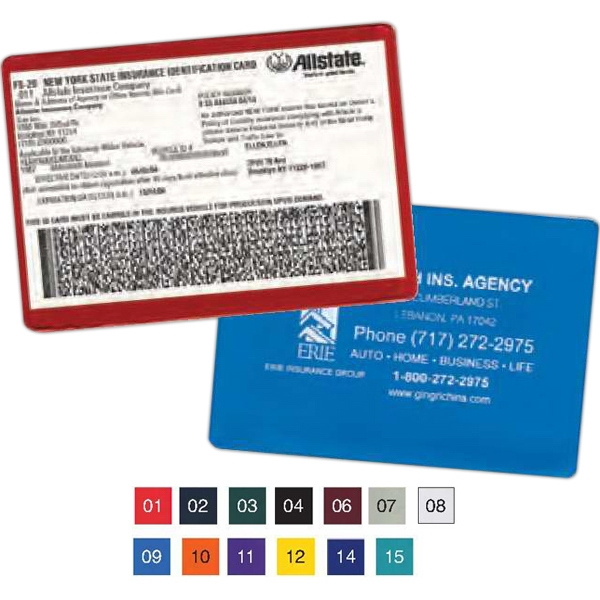 Standard Copy Guard Vinyl Insurance Card Holder Photo