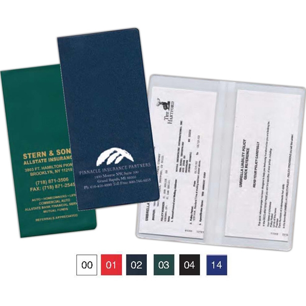 Standard Copy Guard Vinyl Policy And Document Holder With 2 Clear Full Pockets Photo