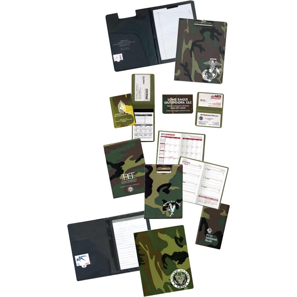 "30 Pages - Camouflage Memo Book, 3"" X 4 1/2"" Closed Size Photo"