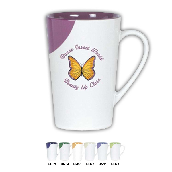 Half Moon Series - Lime - Ceramic Tall Mug, 12 Oz Photo