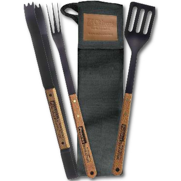 Durable, Black Nylon Barbecue Tool Pouch Photo