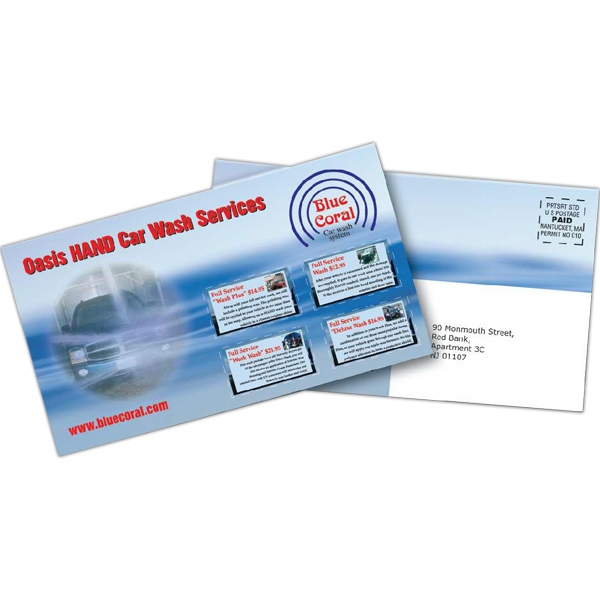Standard Stock Mailer 10 Pt. Coupon Laminated Both Sides Photo