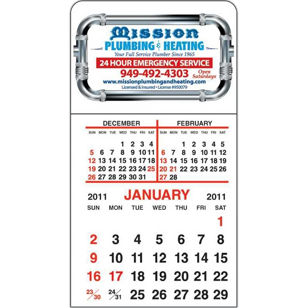 Spider Tac - Standard Shape - Repositionable Adhesive Header 12 Month Tear-off Calendar Pad Photo