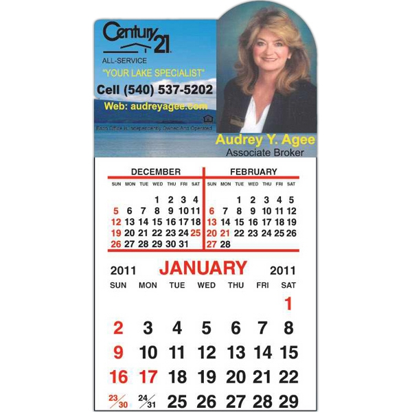 Spider Tac - Right Arch Shape - Repositionable Adhesive Header 12 Month Tear-off Calendar Pad Photo