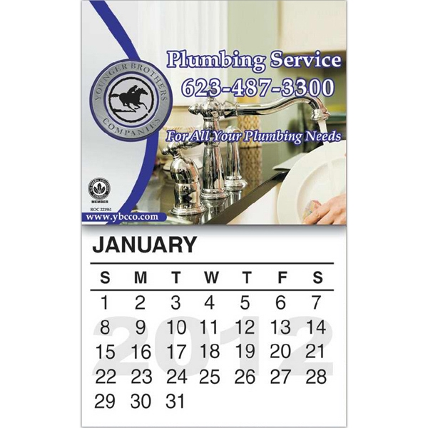 "Magnet With Calendar, 4"" X 6 1/4"" Photo"