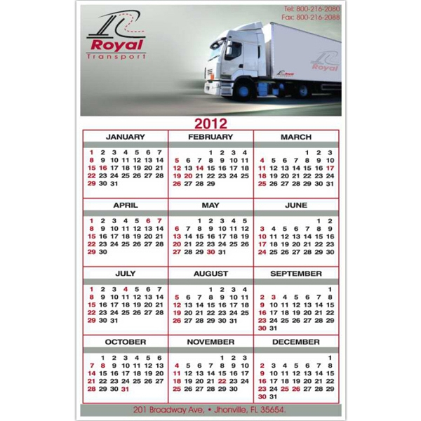 "5 1/2"" X 8 1/2"" - Calendar Card With Full Color Imprint And Clear Coated On One Side Photo"