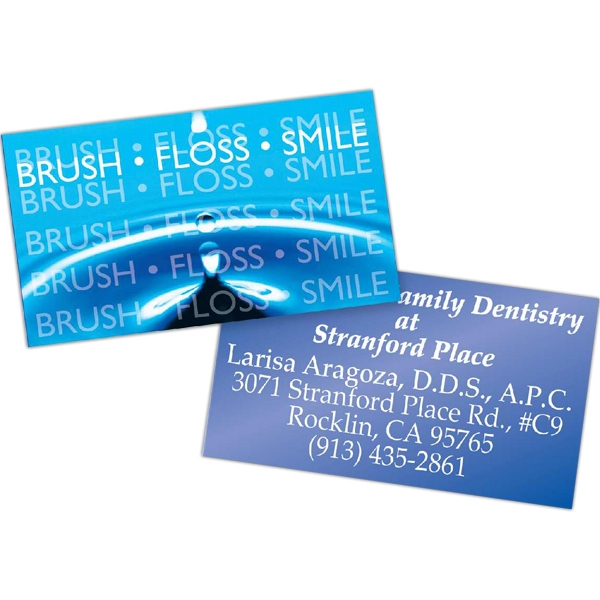 "Square Corners Magnet - Lenticular Business Card Magnet, 25 Mil. Thickness, 3 1/2"" X 2"" Photo"