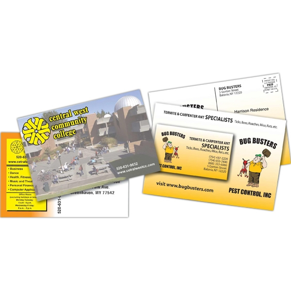"Mailer 10pt. Laminated Both Sides, 4"" X 6"" With 25 Mil Magnet Photo"