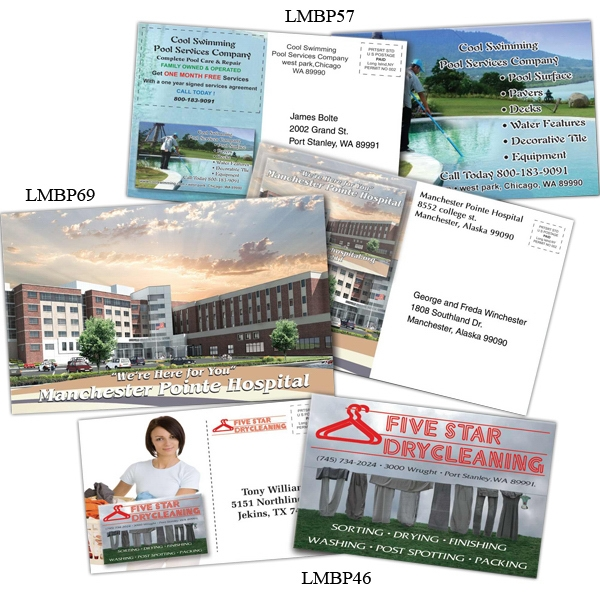 "Business Card Magnet Mailer, 5"" X 7"", Standard Stock 10mil Laminated Both Sides Photo"